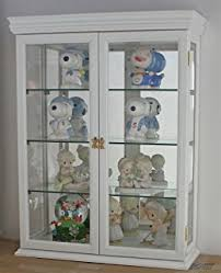 What To Put In A Curio Cabinet Amazon Com Coaster Accent Display Cabinet In White Kitchen U0026 Dining