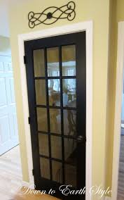 such a neat idea replace traditional basement door with a french