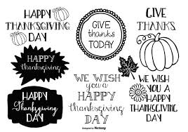 thanksgiving doodle labels free vector stock