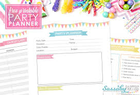 party planner free printable 14 pages the sassaby party co
