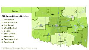 Oklahoma Counties Map Oklahoma Climatological Survey