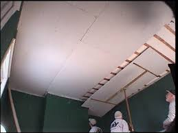 Hanging Pictures On Drywall by How To Replace Ceiling Tiles With Drywall How Tos Diy