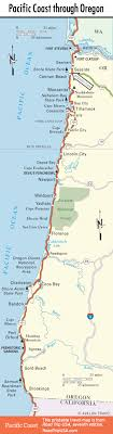 map of oregon lighthouses heceta and the sea caves oregon s pacific coast route