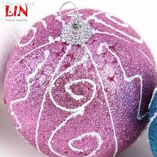 wholesale 10cm hanging christmas glitter foam painted ornament