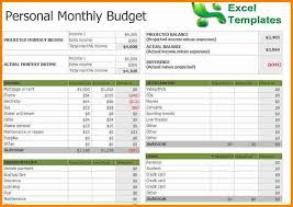monthly expense template excel personal expense tracker