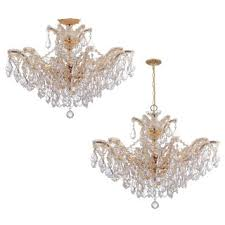 Maria Theresa 6 Light Crystal Chandelier Crystorama Maria Theresa 12 Light Polished Chrome Chandelier