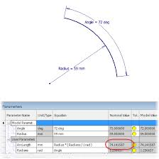 how to measure dimension and specify arc length in inventor sketches