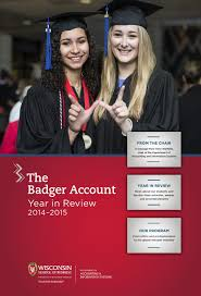 the badger account 2014 2015 by university of wisconsin madison