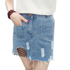 light wash denim skirt 2018 high waist denim skirt blue light wash women distressed mini