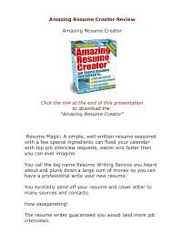 guaranteed resumes does amazing resume creator actually work amazingresumecreator review