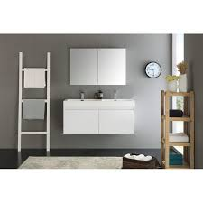 White Bathroom Medicine Cabinet Mezzo 48 White Wall Hung Sink Modern Bathroom Vanity W