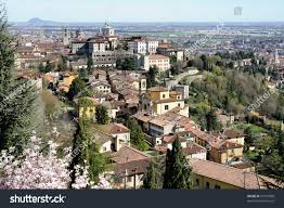 bergamo citta alta lombardy italy via stock photo 51391000