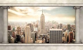 new york city view pillars photo wallpaper mural 2811wm city new york city view pillars photo wallpaper mural 2811wm