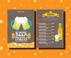 drink menu template free menu template symbols elements on background free vector