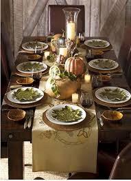 autumn tablescape thanksgiving table fall decor simple