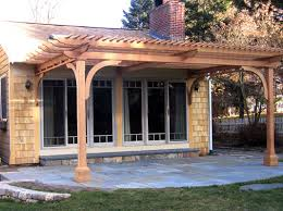 Attached Pergola This Patio Pergola Was Designed To Extend The - Backyard arbor design ideas
