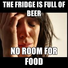 Fridge Meme - the fridge is full of beer no room for food create meme