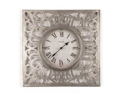 vintage style ornamental clock pewter accessories