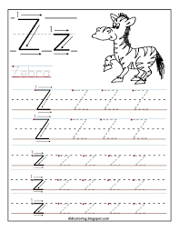 Writing The Alphabet Worksheets Free Printable Worksheet Letter Z For Your Child To Learn And