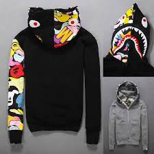 japan bathing ape bape jacket men u0027s shark head full zip hoodie