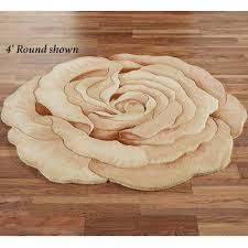 Circular Area Rugs Rosetta Flower Shaped Rugs Rounding Flower And Shapes