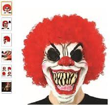 Scary Clown Halloween Costumes Adults Scary Clown Mask Halloween Fancy Costume Latex Horror Creepy
