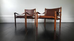 Vintage Leather Chairs Vintage Leather And Rosewood Sirocco Easy Chairs By Arne Norell