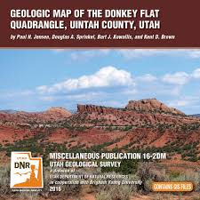 Map Of Counties In Utah by Geologic Map Of The Donkey Flat Quadrangle Uintah County Utah