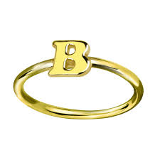 monogram initial ring wholesale personalized initial ring gold color tiny letter ring