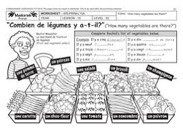 french unit 5 food y4 y5 the vegetable and fruit at the