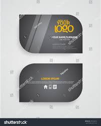 modern premium business card template layout stock vector