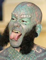 7 best lizard man tattoo images on pinterest sideshow body