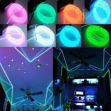 5m 10 colors 3v neon el wire light decor