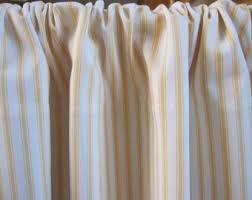 Black Ticking Curtains Black Woven Cotton Ticking Stripe Cabinet Sink Curtain 50 X