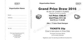 raffle ticket printing paper raffle ticket 001 charity