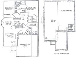 2 bedroom ranch floor plans collection including open for bath