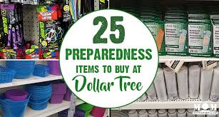 25 favorite preparedness items at dollar tree with a prep