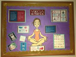 thanksgiving day bulletin board ideas shows different facts about the u s and yoga perfect for starting