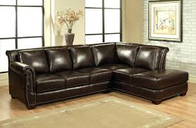 Brown Leather Sectional Sofa With Chaise Decoration Small L Shaped Couches