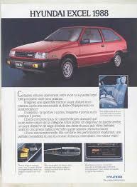 siege cing car occasion 1988 hyundai excel brochure canada wu5874 ebay