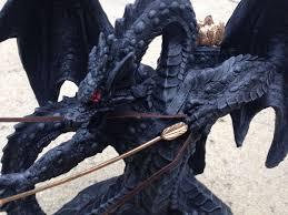 dragon home decor dragon figurine bow u0026 arrow home decor statue gothic medieval