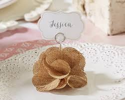 burlap place card holders set of 6