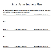 farm business plan template boblab us