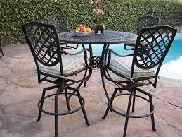 patio bar stool allen roth safford brown aluminum barstool chair