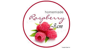 raspberry jam label 37mm pack of 210 alpack