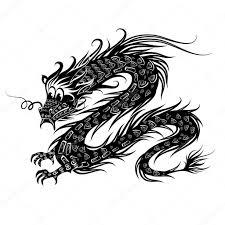 black chinese dragon u2014 stock vector oksana 6209524