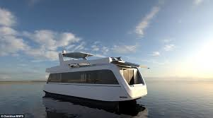 Boat A Home Luxurious Houseboat Boasts King Size Beds A Jacuzzi And Lounges
