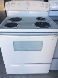 Ge Electric Cooktops Ge Electric Stove Almond Color Works Great With Warranty