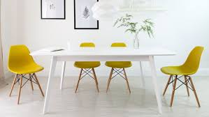 Extending Table And Chairs Matt White Extending Dining Table And Eames Chairs Youtube
