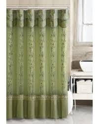 Green And Brown Shower Curtains On Sale Now 17 Off Sage Green Two Layered Embroidered Fabric